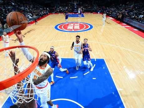 Hawks Drop Contest to Pistons on the Road