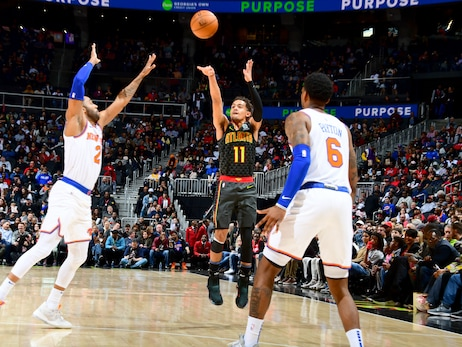 Hawks Defeat Knicks in Double-Overtime