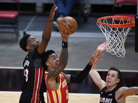 Hawks Not Enough, Fall To Heat On The Road
