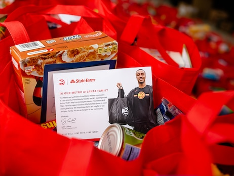 Hawks, Goodr, and State Farm® Host Ninth Pop-Up Grocery Store