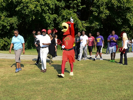 Hawks Help Create New Outdoor Court With Gresham Park Unveil