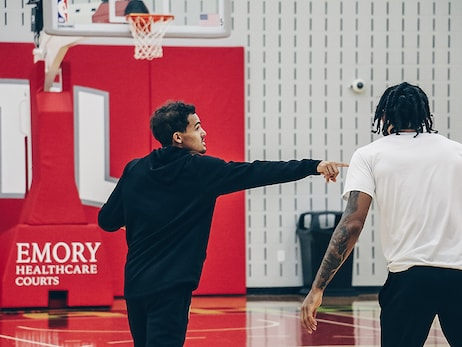 PHOTOS: Hawks Return To Practice Facility After Road Trip