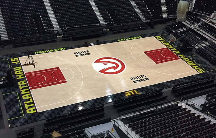 Here Are The First Photos Of The New Hawks Court Atlanta