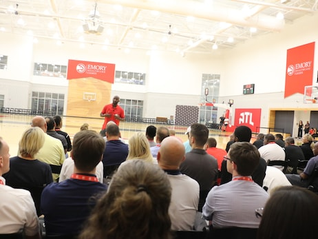 Hawks Head Coach Lloyd Pierce Gives Back To 129 Coaches At Second Annual Coaches Clinic