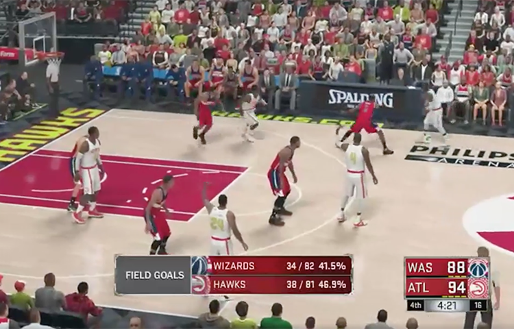 WATCH: Hawks Beat Wizards In 2K Sim of Game 3