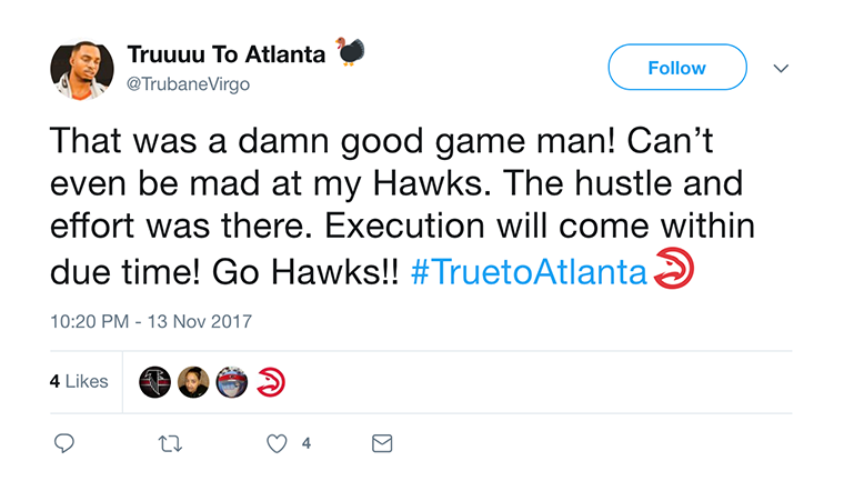 Hawks Fans Feel Wins On The Way After Another Close Loss