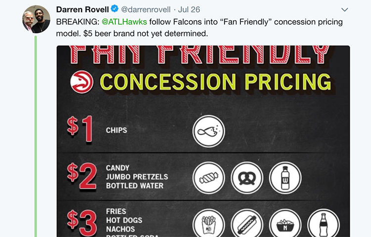 Media and Fans Celebrate Fan Friendly Concession Pricing