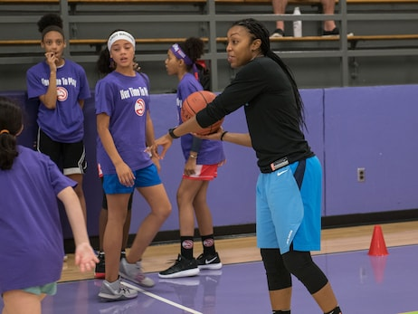Hawks Host Second Annual Her Time To Play Basketball Clinic