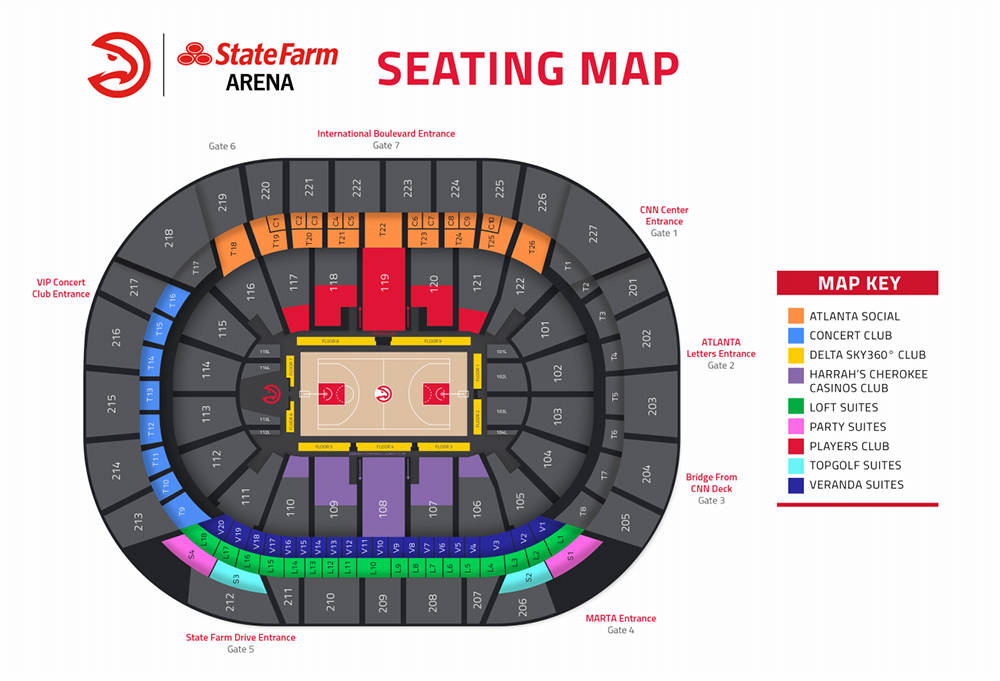 State Farm Aren Seating Map
