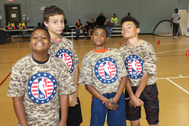 Hawks Hold Hoops For Troops Clinic at Fort Benning
