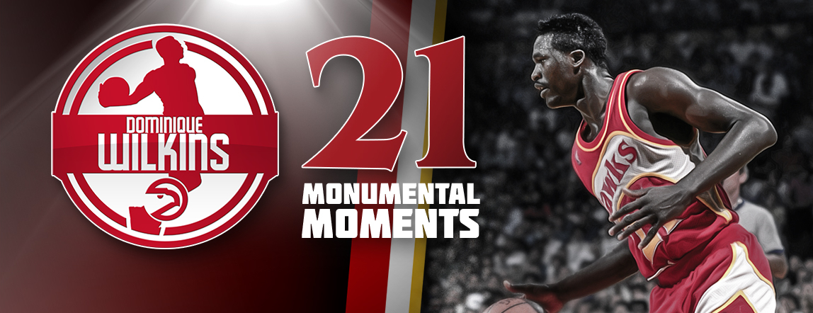 Moment #7: Wilkins Goes Head-To-Head with Michael Jordan in Slam Dunk Contest