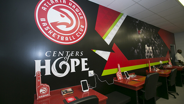 Hawks Foundation Unveils New Teen Room At Pittman Park