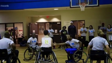 Hawks Hold Game With BlazeSports Wheelchair Team