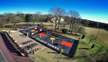 5 Photos Of Renovated Hawks Court At Grant Park, As Seen From Above