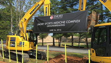 Hawks Break Ground On Emory Sports Medicine Complex