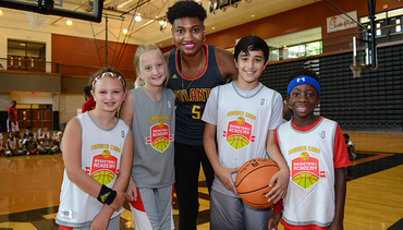 Angel McCoughtry Stops By Jr. Hawks Summer Camp