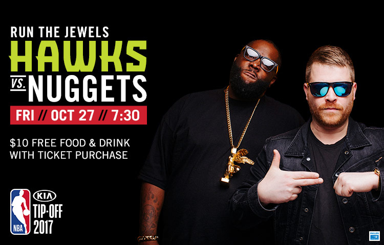 38418fa04557 Hawks Open 2017-18 Concert Series With Run The Jewels On Oct. 27 ...