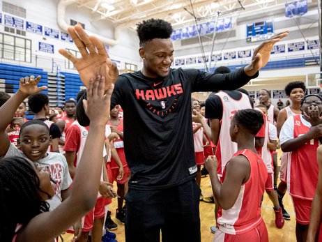 PHOTOS: Cam Reddish & Bruno Fernando Surprise Jr. Hawks Campers
