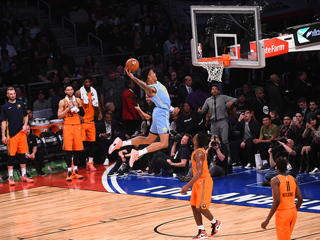 9 Photos of John Collins Dunking Everything at Rising Stars