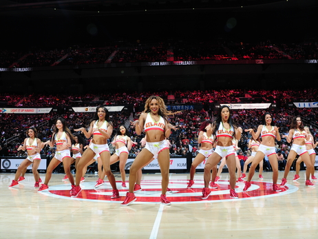 Atlanta Hawks Cheerleaders In Action This Season