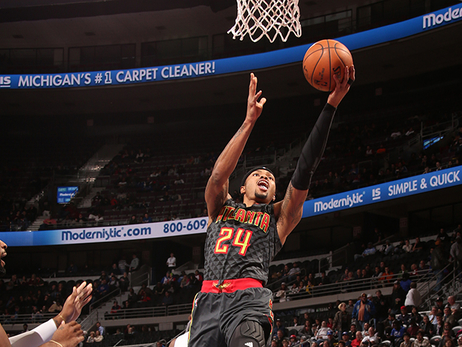 Hawks Can't Slow Down Pistons, Fall In The Palace