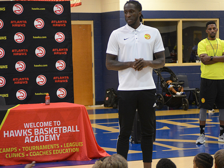 Josh Smith and Taurean Prince Visits the Jr. Hawks