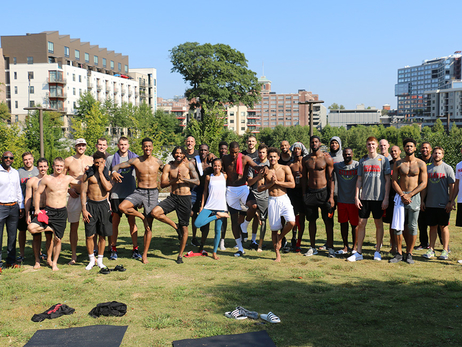 Hawks Prep For Training Camp With Team Yoga