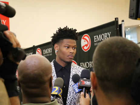 PHOTOS: Cam Reddish Arrives in Atlanta