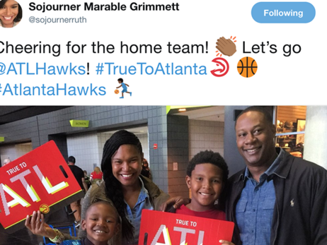 Hawks Fans Return For Contest at Philips Arena