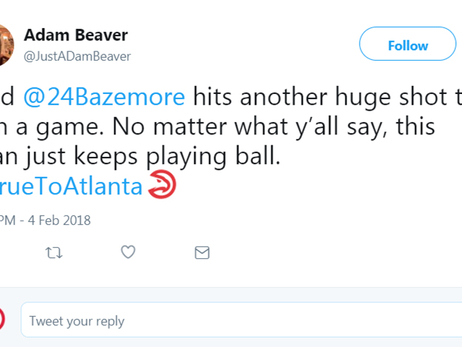 Fans In Awe of Kent Bazemore's Late Game Heroic Act