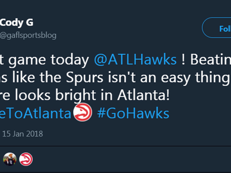 Hawks Fans Celebrate Big Win Over Spurs