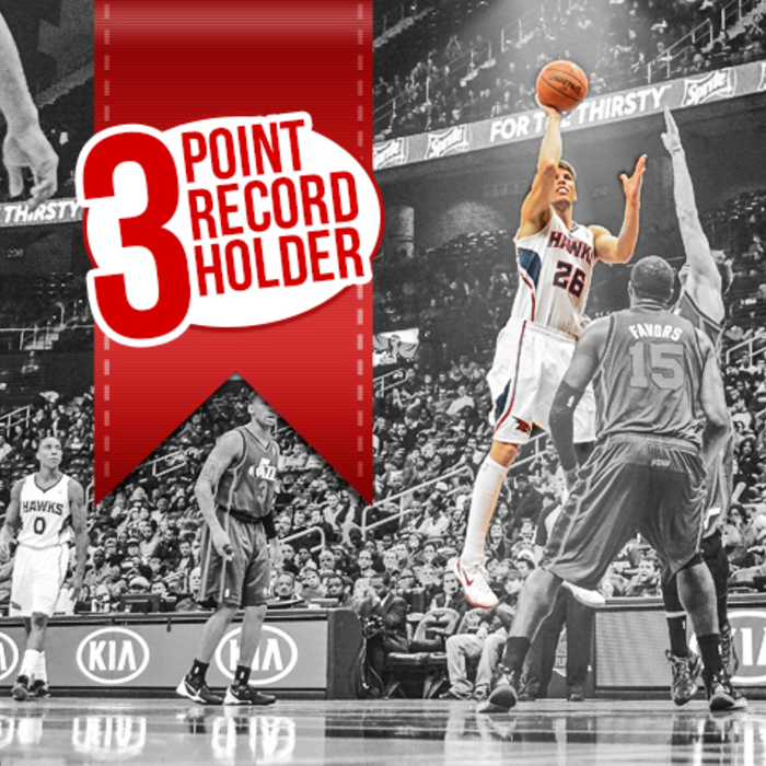 Kyle holds record for most consecutive games with a made 3-pointer in NBA history with 127.