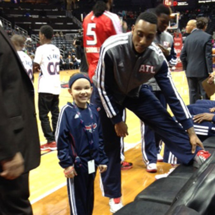 lauren smiling with jeff teague