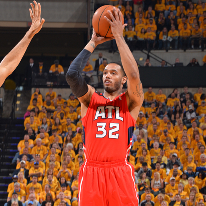 Mike Scott finished the night with 15 points off the bench.