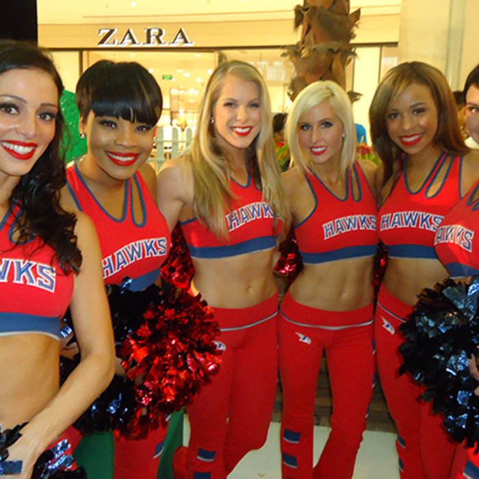 Members of the 2013-14 Hawks Cheerleaders and Harry the Hawk went to China.