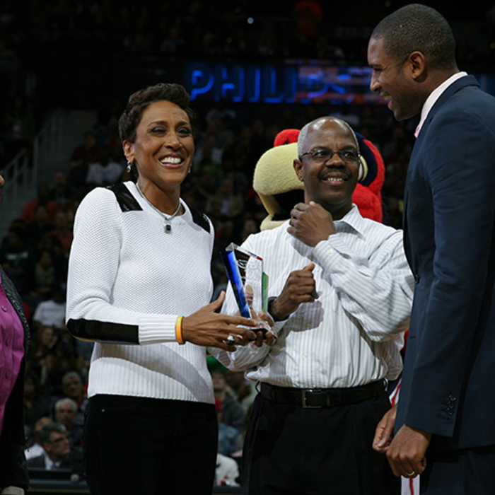 On Friday, March 21, the Atlanta Hawks honored Good Morning America anchor Robin
