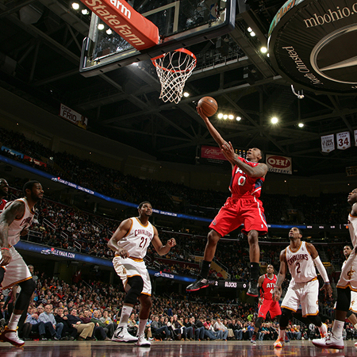 Jeff Teague lays one in. Teague scored a game-high 34 points and handed out 14 a