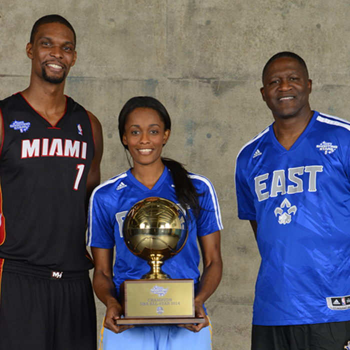 Team Bosh is now back-to-back champs of the Shooting Stars Competition. The team