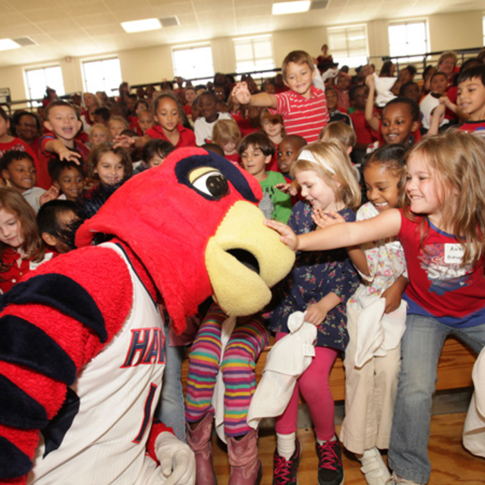 Hawks Surprise Open Practice at South Gwinnett High School
