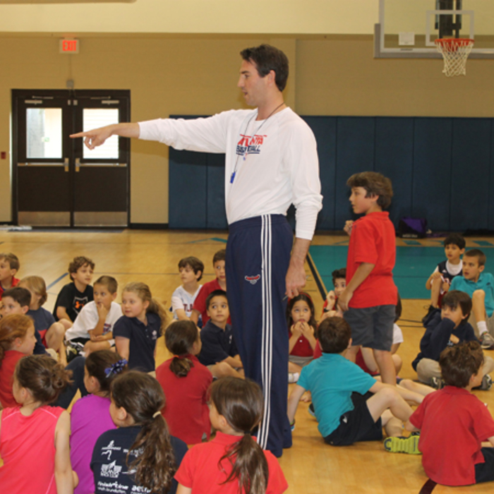 The Atlanta Hawks Basketball Development staff visited the Davis Academy.