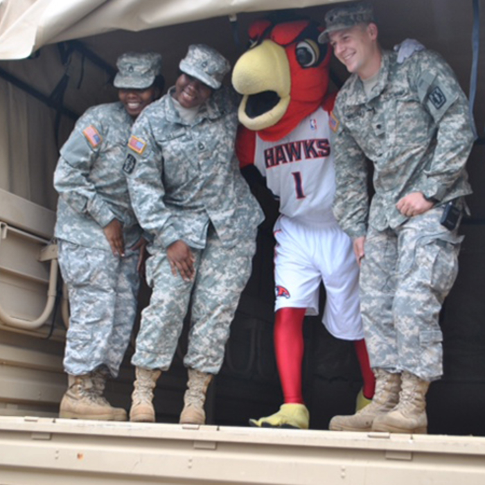 The Hawks collaborated with WXIA's Random Acts of Kindness
