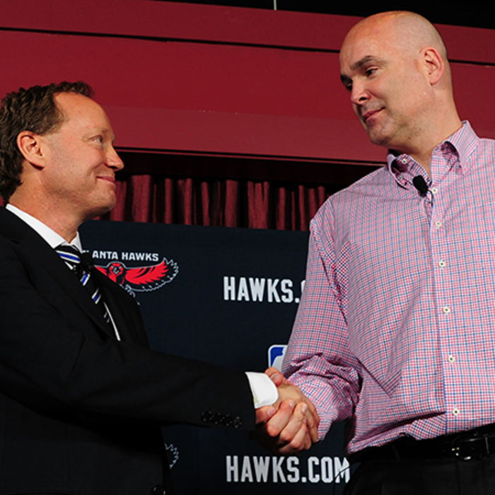 The Hawks hired new head coach Mike Budenholzer and held a press conference.