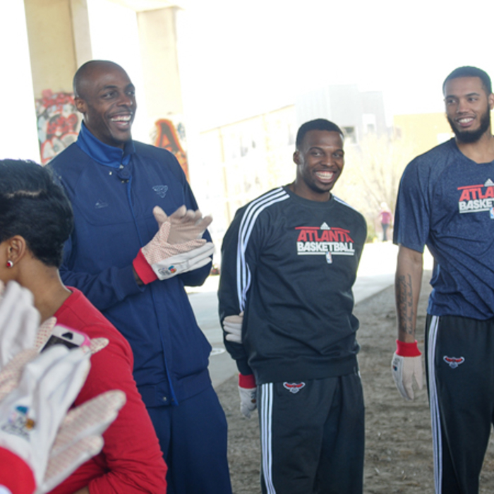 The Atlanta Hawks and Arrow Exterminators team up with Trees Atlanta to plant