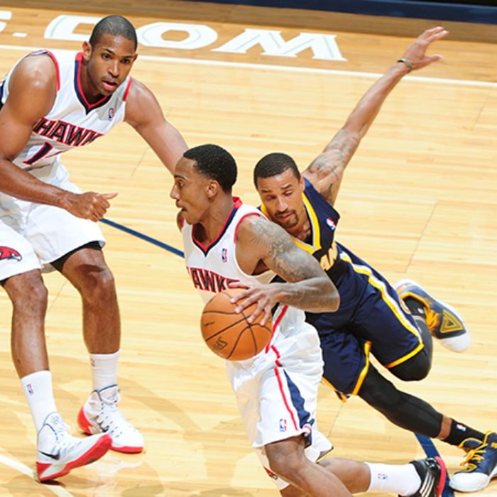 Jeff Teague scored 17 points, his high for the preseason.