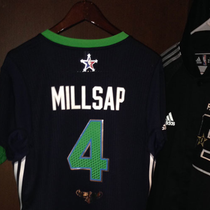 A sneak peek of Paul Millsap's All-Star jersey for tonight's game.