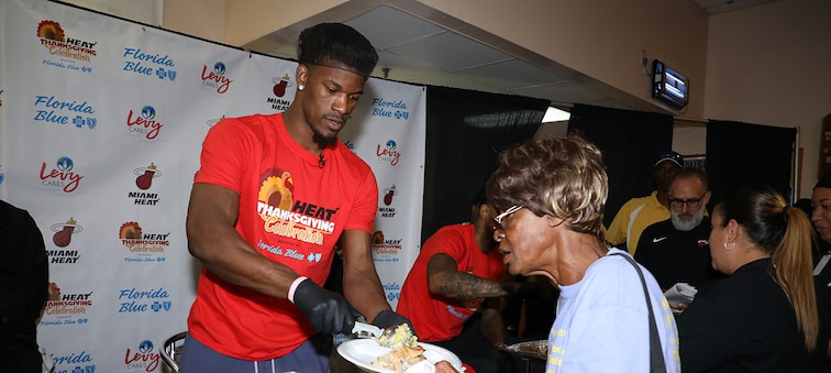 Jimmy Butler at the HEAT Thanksgiving Celebration