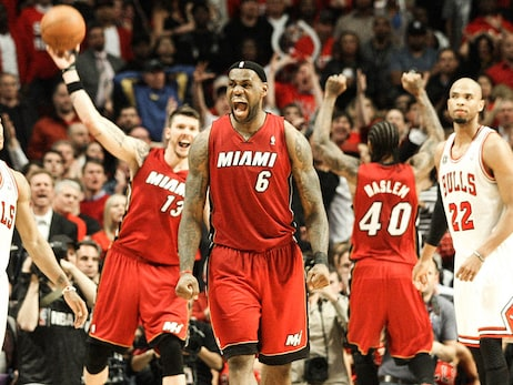 This Day In HEAT History: Big 3 Powers 18-3 Run To Eliminate Bulls, Advance To Finals