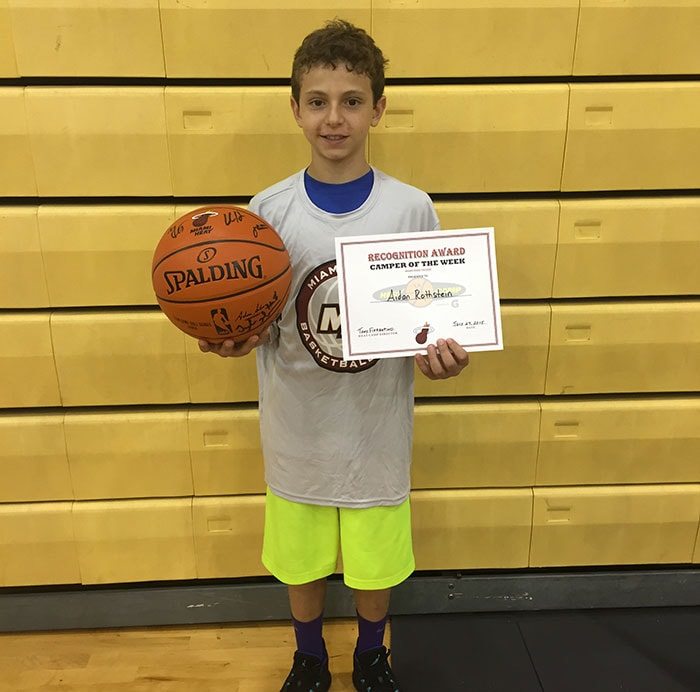Camper of the week: Aidan Rothstein