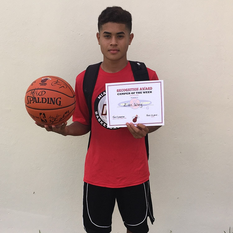Camper of the Week: Zion Wang