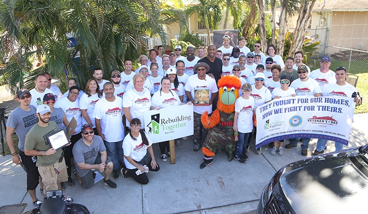 HEAT RENOVATED THE HOMES OF TWO LOCAL VETERANS IN HONOR OF HOMESTRONG INITIATIVE FOR VETERANS DAY